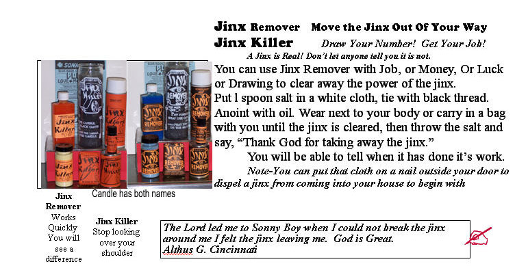Jinx Remover, Jinx Killer, Move the Jinx Out Of Your Way
